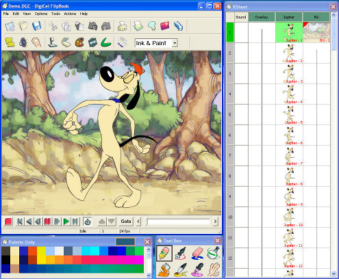 digicel flipbook 2d animation software